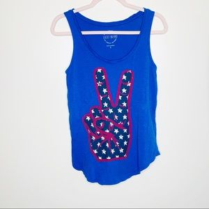 Lucky Brand Peace Hand Tank Top Size Small